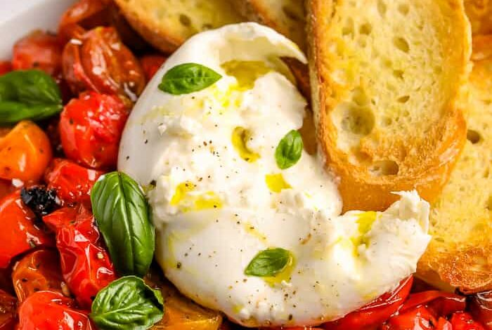 Burrata with Balsamic Tomatoes (So Flavorful!)