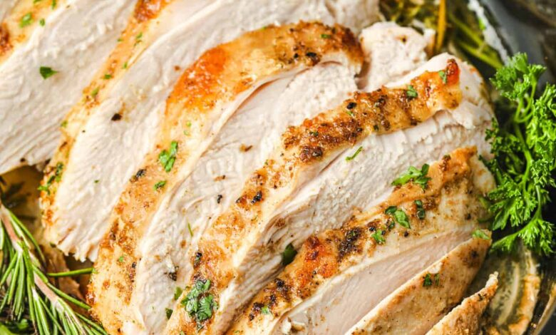 Crock Pot Turkey Breast (With a Herbed Butter Rub!)