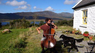 The Irish cellist striking a chord in lockdown
