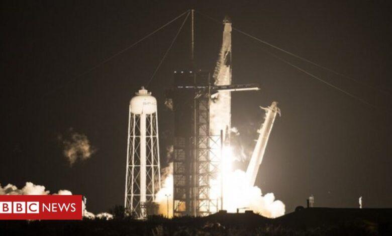 Nasa SpaceX launch: Astronaut crew heads to orbit