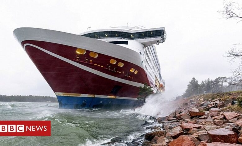 Stranded passenger ferry Viking Grace towed to Finnish port
