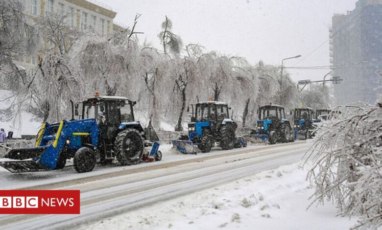 Vladivostok snowstorm: Emergency declared amid chaos and power cuts