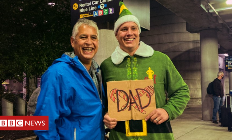 'Buddy the Elf' joke baffles dad in first meeting with son