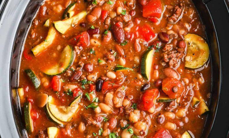 Crock Pot Italian Bean Soup (Set it & Forget it!)