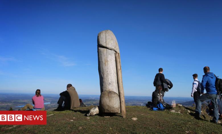 Grünten statue: Mystery over missing phallic landmark