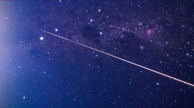 """A fireball from Hayabusa2""""s capsule seen as it reentered the earth""""s atmosphere"""