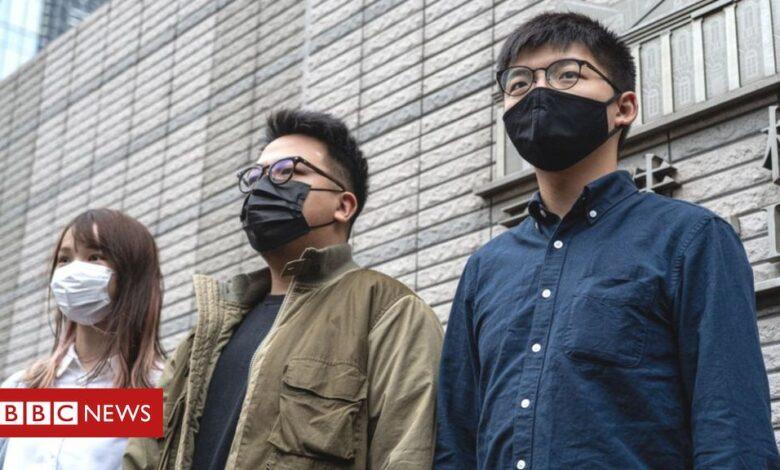 Hong Kong: Joshua Wong and fellow pro-democracy activists jailed