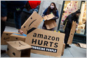 NLRB has issued a complaint against Amazon in November over firing of warehouse employee who discussed pay and other workplace issues with her coworkers (Caroline O'Donovan/BuzzFeed News)