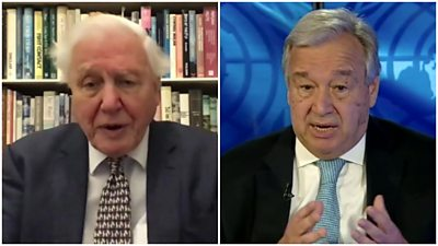 David Attenborough and António Guterres