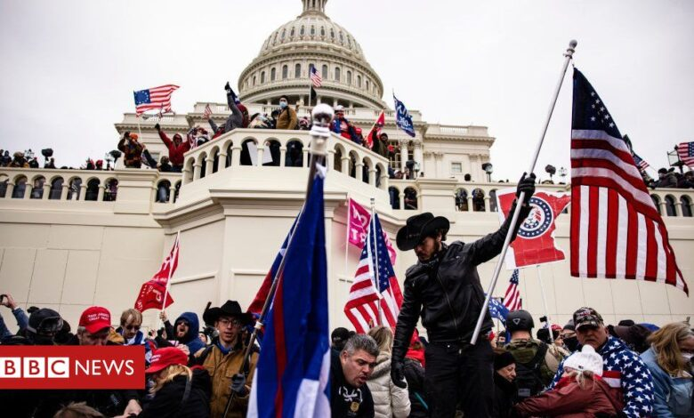 Capitol riot: Police chief apologises for pro-Trump riot