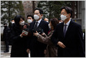 Samsung Electronics heir Jay Y. Lee was sentenced to 30 months in prison over bribery charges; Lee still faces a second prosecution related to succession (Sohee Kim/Bloomberg)
