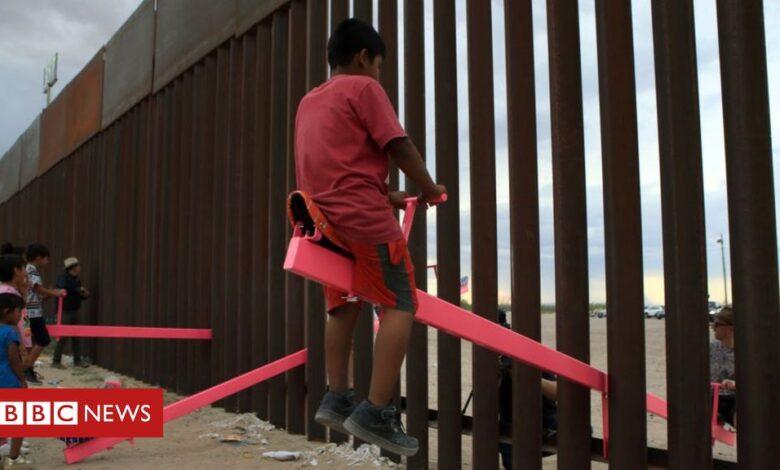 US-Mexico border wall seesaws win design award