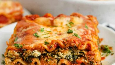Photo of Easy Spinach Lasagna (Use Frozen or Fresh Spinach)
