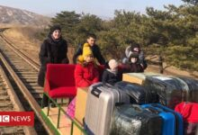 Photo of North Korea: Russian diplomats leave by hand-pushed trolley