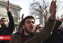Photo of Armenian opposition breaks into government building
