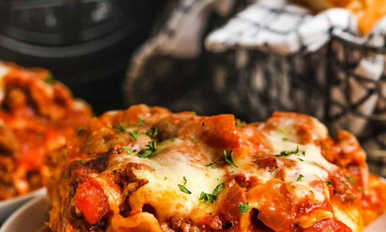 CrockPot Lasagna - Spend With Pennies