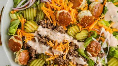 Photo of Cheeseburger Salad (Big Mac Salad)