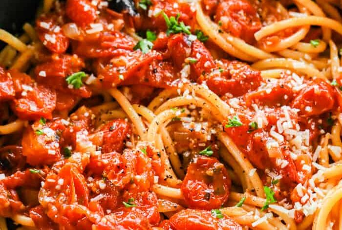Homemade Roasted Tomato Sauce - Spend With Pennies