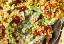 Photo of Bacon Green Bean Casserole (from scratch)