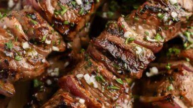 Photo of Garlic Butter Steak Kabobs – Spend With Pennies