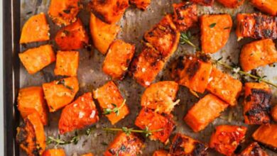 Photo of Parmesan Roasted Sweet Potatoes – Spend With Pennies