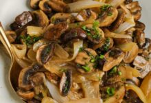 Photo of Sautéed Mushrooms and Onions – Spend With Pennies
